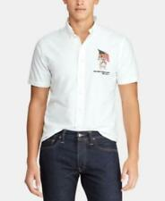 Polo Ralph Lauren Collared Classic-Fit America Bear Oxford Shirt (White, XS)
