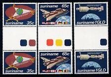 [SU280GPA] Suriname 1982 Space Gutter pairs Traffic lights MNH