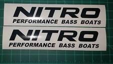 Nitro Performance Bass Boat Decal Sticker Set Fishing Bass Rapala Windshield