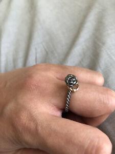 Original Pandora Bicolor Ring Rose Mit Herz Gr54