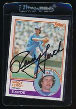 SIGNED RANDY LERCH 1983 TOPPS #686 AUTO AUTOGRAPH MONTREAL EXPOS