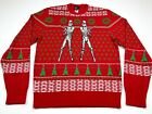 Star Wars M Stormtrooper Ugly Christmas Sweater Red Tie Fighter Galactic Empire