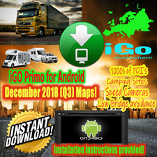 iGO Primo Android Phone/Car Radio - Dec 2018 Q3 EU Maps CAR&TRUCK INST DOWNLOAD