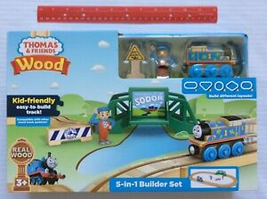 Fisher Price Thomas & Friends 5-in-1 Wood Builder Playset FHM64 - New In Box 3+