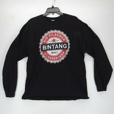 Bintang Bali Pilsner Beer Logo Long Sleeve T-Shirt Men's Black VG 028