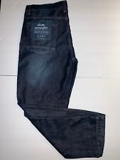 Pd&c Paper Denim Cloth Mens Slim Straight Dark Jeans Size 36 X 32 With Tags
