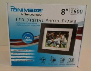 "Panimage by Pandigital New LED DIGITAL PHOTO FRAME 8"" 1600 Images Wood Frame"