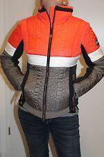 Sportalm Kitzbühel Damen Ski Jacke Taha Orange Weiß Braun Größe 36 S Neu