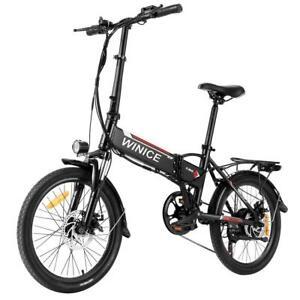 Electric 350W 36V Foldable Electric Bike MTB 7 Speed Gears E-Bike Disc Brake