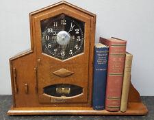 ART Deco BULLE elettro-magnetico 800 giorno Mantle/Orologio da tavolo con libreria