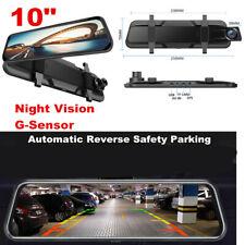 10'' HD 1080P Touch Screen Car DVR Rearview Mirror Dash Cam Recorder G-Sensor