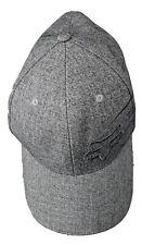 S/M Fox Racing Flexfit Fitted Hat Blue Gray Plaid Cotton Spandex Mens
