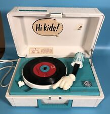 Vintage Mickey Mouse Record Player 45's 33's General Electric Tested Walt Disney