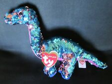 """TREMOR - DINOSAUR - NASA SpaceX Ty FLIPPABLES Sequin Beanie 6"""" Boos - NEW & MINT"""