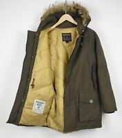 WOOLRICH ARCTIC PARKA Men's MEDIUM 100% Down Coyote Fur Hooded Jacket 32792-GS
