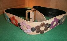 Original Vintage 1970's Ladies Suede Fashion Belt