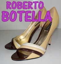 "Amazing ""ROBERTO BOTELLA"" in pelle PEEP TOES SCARPE UK 4 EU 37 £ 105"