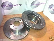 HONDA CRV LEGEND ODYSSEY SLOTTED DISC BRAKE ROTORS GROOVED UPG FONT PAIR