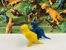 2x) Lot Y/B Marx Allosaurus Dinosaur 1970s Vintage Plastic Prehistoric Set Break