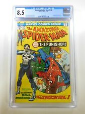 Amazing Spider-Man #129 1st appearance of The Punisher CGC 8.5 OWW pages