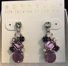 Sorrelli Glittering Multi-Cut Swarovski Crystal Earrings in African Violet, $70