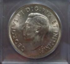 1937 Canadian Silver Dollar Graded by ICG and Graded MS63