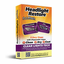 Headlight Lens Restoration Wipe Kit with UV Protection Layer Works in 2 Minutes