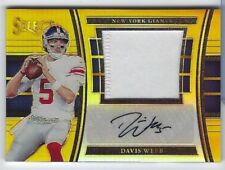 DAVIS WEBB 2017 Panini Select GOLD JUMBO PATCH AUTO RC /10 #JM-DW Giants SP!