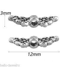 Neu 200 Antiksilber Perlen Gravur Beads Flügel Engelsflügel zum Basteln 12x3mm J