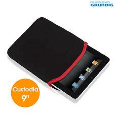 "Custodia Ipad Cover Tablet Schermo 9"" Pollici Vari Colori in Neoprene Grundig"