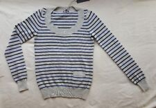 New Theory cashmere striped sweater jumper S/P