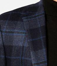 Lauren Ralph Lauren Blazer Size 42S Men Wool Suit Jacket Black Blue Windowpane