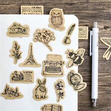 46PCs Decoration Owl  Leaves Squirrel  Rabbit Animals Paste Paper Sticker