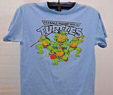 Teenage Mutant Ninja Turtles T-Shirt Light Blue L Viacom 2010 100% cotton
