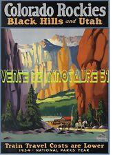 Colorado Rockies - Black Hills & Utah  - USA - affiche plastifiée