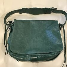 "2003 Balenciaga Emerald Green Vintage ""Flap"" Bag w/Pewter HW! Rare!"