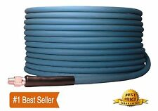 "100' ft 3/8"" Blue Non-Marking 4000psi Pressure Washer Hose 100 - FREE SHIPPING"