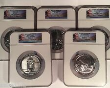 2010  America The Beautiful ATB 5 oz  5 Coin Set NGC MS69 PL ER H Springs M Hood