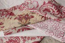 Antique French fabric vintage material PROJECT BUNDLE scraps pack patchwork