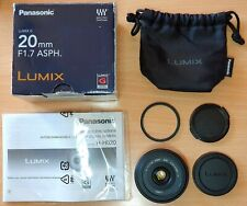 Panasonic Lumix G H-H020 20mm f/1.7 Aspherical Lens #5203