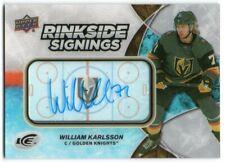 2018-19 Upper Deck Ice Rinkside Signings WK William Karlsson Auto Golden Knights