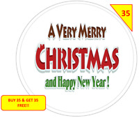 70 Merry Christmas Xmas Happy New Year  Stickers NON PERSONALISED