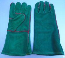 NEW Leather BBQ Rotisserie Fireplace Woodstove Gloves SIZE  Medium 1 PR.