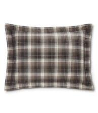 Ralph Lauren Standard HOXTON Bedding SHAM PLAID CREAM GREY NIP $115