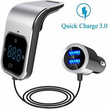 Bluetooth In-Car Wireless FM Transmitter MP3 Radio Adapter Car 2 USB Charger UK