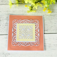 Square Hollow Lace Metal Cutting Dies For DIY Scrapbooking Album Paper CardsTS