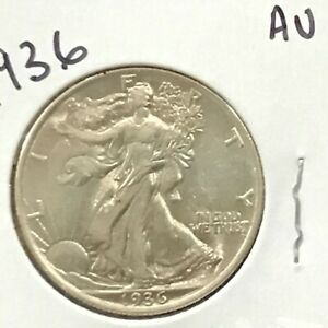 1936 Walking Liberty Silver Half Dollar   E9015