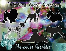 145 Dog Vector Graphics Clipart