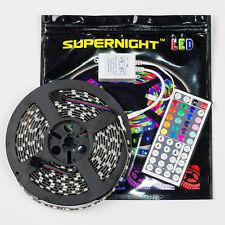 RGB Waterproof 5M 5050 SMD 300 LED Strip Light Black PCB + 44 Key IR Controller