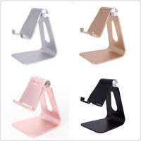 Aluminum Foldable & djustable Desk Stand Mount Holder for Universal Phone Tablet